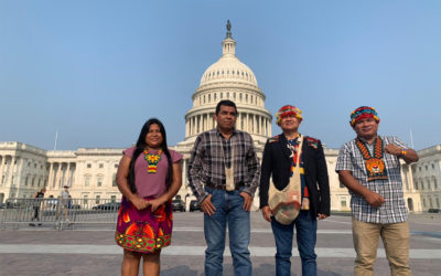 Territorial Authorities arrive in Washington D.C. in defense of life and forests