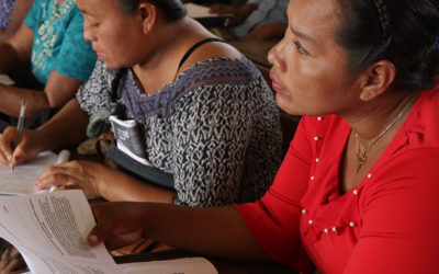 Spokesmanship training workshops begin for indigenous and local community women  leaders of Mesoamerica