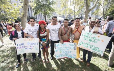 Líderes indígenas y locales de Mesoamérica participan en gran Marcha por el Clima en Nueva York