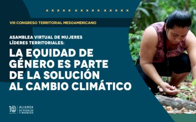 Asamblea de Mujeres Territoriales: La equidad de género es parte de la solución al cambio climático