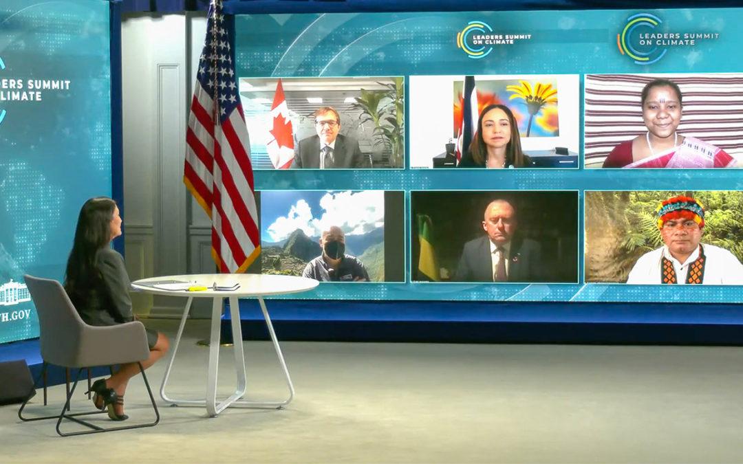 Alianza Global de Comunidades Territoriales en Cumbre de Líderes sobre el Clima convocada por Administración Biden