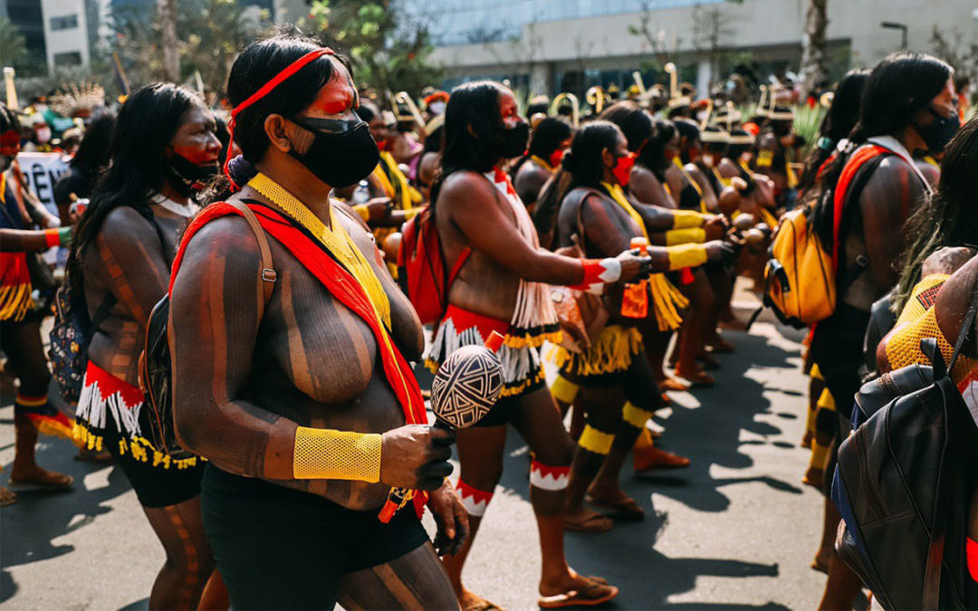Coordinadora de Mujeres Líderes Territoriales participa en la movilización indígena más grande de la historia